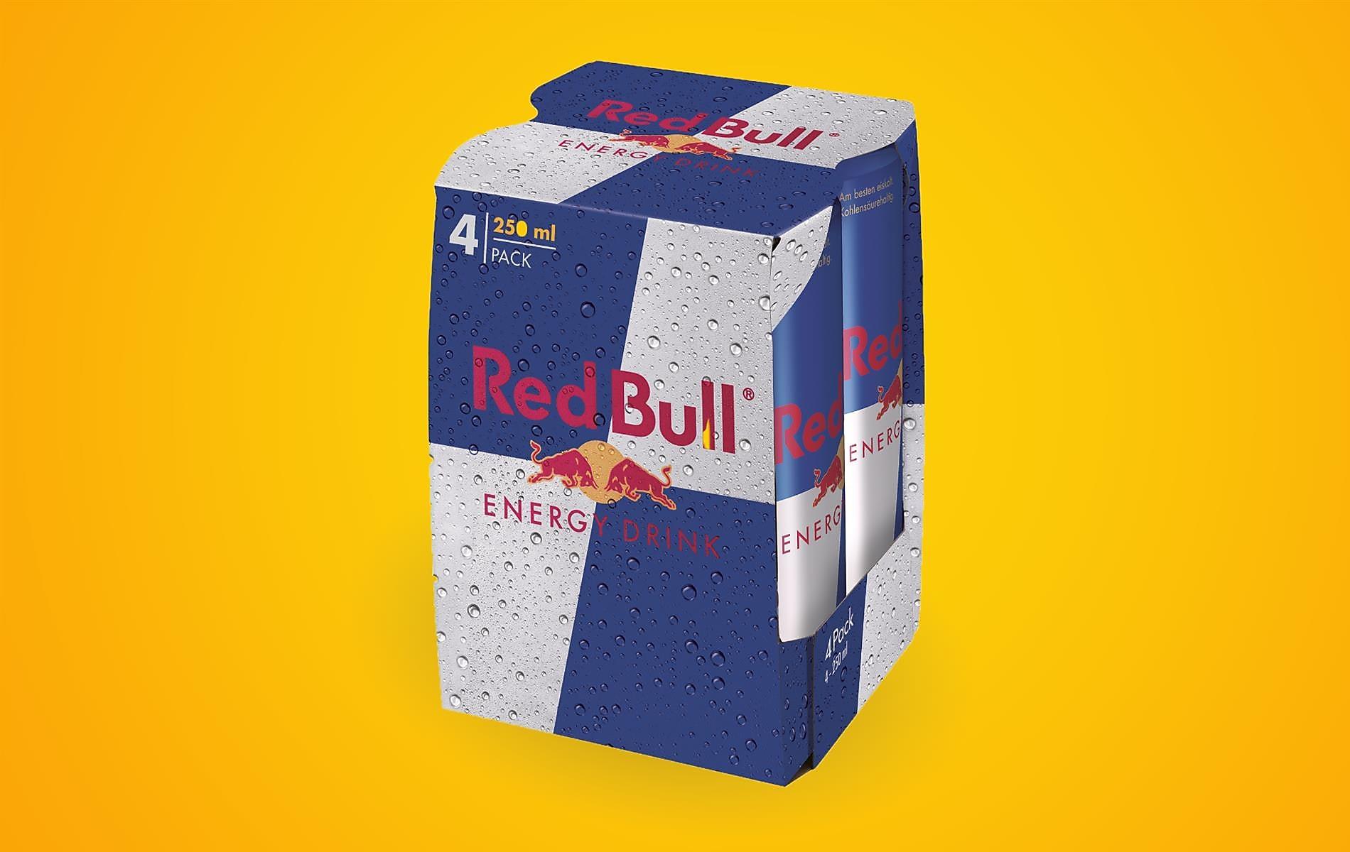 Red Bull 4er-Pack oder 4 Stück um 7,20 €