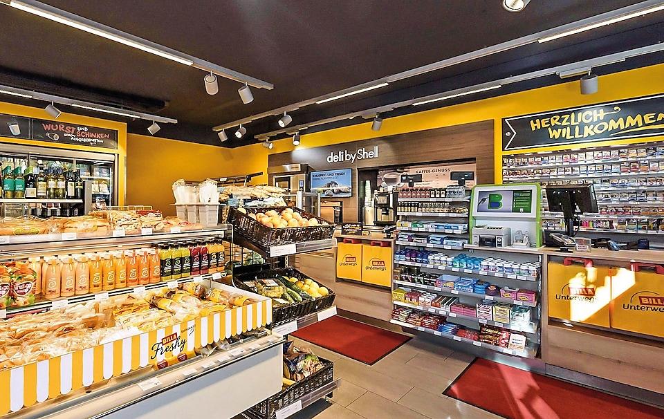 Shell Shop mit großem Sortiment frischer Lebensmittel
